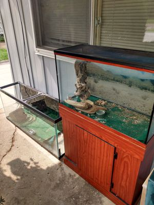 3 Fish Tanks . 2 for 150, 3 for 200 or 90 bucks a piece . Also have a third one even bigger with a stand too . for Sale in Cuyahoga Falls, OH
