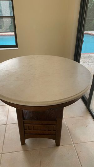 Marble top table, for free... heavy, you must pickup for Sale in Parkland, FL