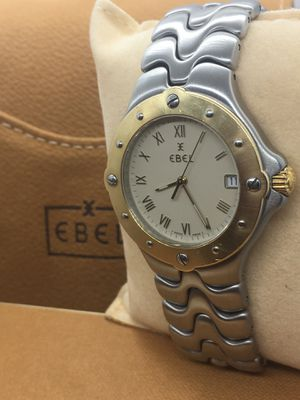 Ebel Silver Sportwave Stainless Steel & 18k Gold Watch. Swiss made quartz movement. Sapphire crystal and water resistant. Original box and papers.40m for Sale in Miami, FL