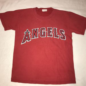 Angels baseball 57 Francisco Rodriguez red t shirt tee kids youth medium 10 12 A024 for Sale in Whittier, CA