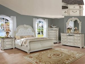 Stanley Antique Whhfite Sleigh Bedroom Set for Sale in Baltimore, MD