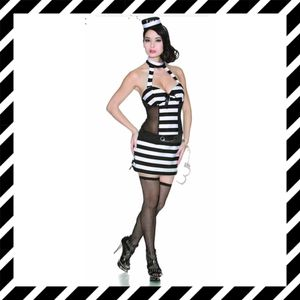 """NOTHING BUT TROUBLE!""Sexy prisoner costume women's size LARGE - NEW! for Sale in Carrollton, TX"