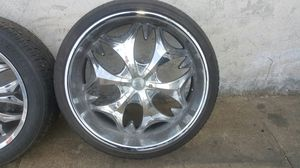 4 26 inches rims and tires. 6 luck nut for Sale in Washington, DC