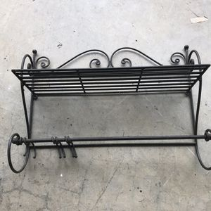 Black Iron Pot/Pan Shelf for Sale in Amherst, VA