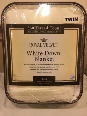 Royal Velvet Down Blanket Twin Size Brand New for Sale in Olney, MD