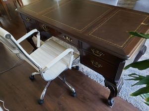 Solid wood desk with inlay for Sale in Columbia, SC