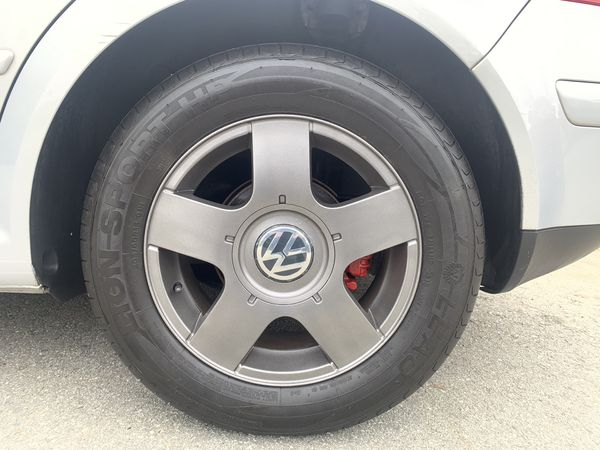 MK4 factory rims and tires.
