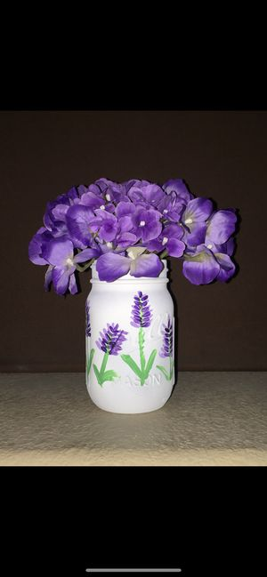 Flower inspired home decor mason jars for Sale in Las Vegas, NV