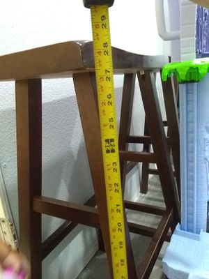 """Three 29"""" wood stools for Sale in Kissimmee, FL"""