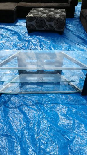 Glass TV stand for Sale in Dallas, TX