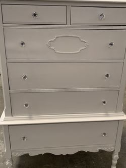 Very Old Tall Boy Dresser With Painted Finish for Sale in Orange,  CA
