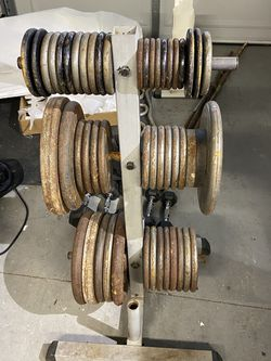 Home Gym Weights 400lbs Plus Bars And Racks for Sale in Encinitas,  CA