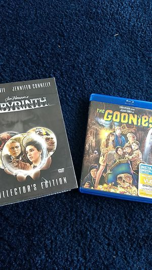 Labyrinth collectors edition & Goonies for Sale in Frederick, MD