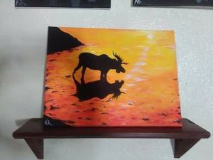 Moose on the Water Painting for Sale in Lakeland, FL