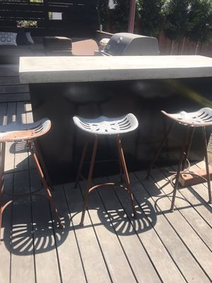 Outdoor tractor seat bar stools for Sale in Mill Valley, CA