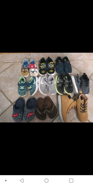 Nikes Crocs sandals boots like new size 8 and 9 for boys for Sale in Denham Springs, LA