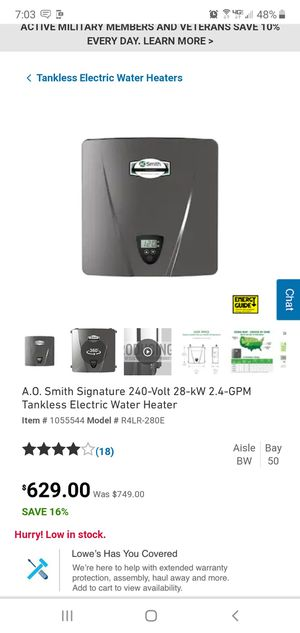 Brand new tankless water heater for Sale in Alexander Mills, NC