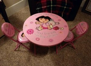 Dora & Boots Table & Chairs for Sale in Bloomington, IL