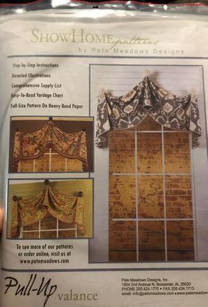 Valance sewing patterns for Sale for sale  Phoenix, AZ