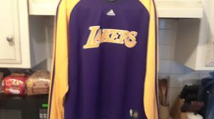 Lakers long sleeve warm up jersey Adidas for Sale in Los Angeles, CA