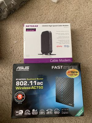 Router and Modem for Sale in San Diego, CA