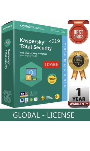 KASPERSKY TOTAL Security 2019 / 1 Device / 1 Year / GLOBAL-KEY /Download for Sale in Los Angeles, CA
