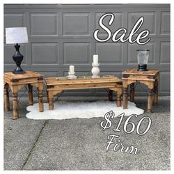 Rustic Farmhouse Coffee And End Tables Set for Sale in Olympia,  WA