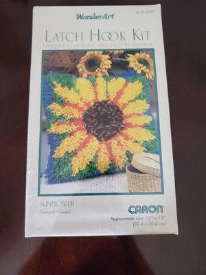 New Sunflower Wonderart Latch Hook Kit 12x12 for Sale in Virginia Beach, VA