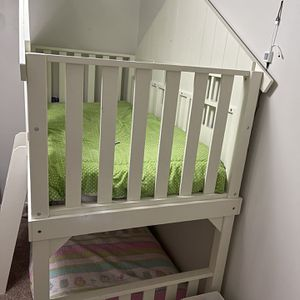 House Bed Twin Over Twin Bunk bed for Sale in Durham, NC