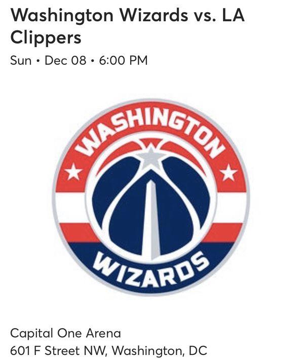 3 Wizards VS LA Clippers tickets