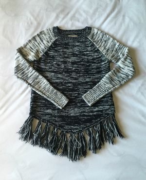 Black And Grey Marbled Fringe Sweater for Sale in Pasco, WA