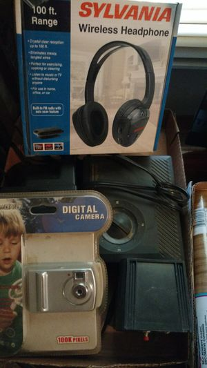 Box ,wireless headphones, Digital camera,cameras etv for Sale in Siler City, NC