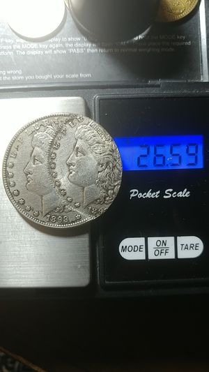 US MORGAN (W.-Face) COMMEMORAVETIVE SILVER PL. COIN * (( 1893-S )) Error-Two Faces one Dollar** 40 x 38.3 mm.-26.59 gr.** for Sale in Brooklyn, NY