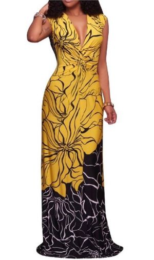 Medium Black and Yellow Maxi Dress for Sale in Monroeville, PA