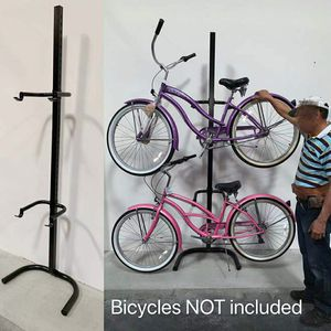 New in box 2 bicycle beach cruiser mountain bike stand carrier rack garage storage display rack (not freestanding) for Sale in Whittier, CA