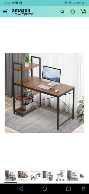 Tower Computer Desk with 4 Tire Shelves for Sale in Seattle, WA