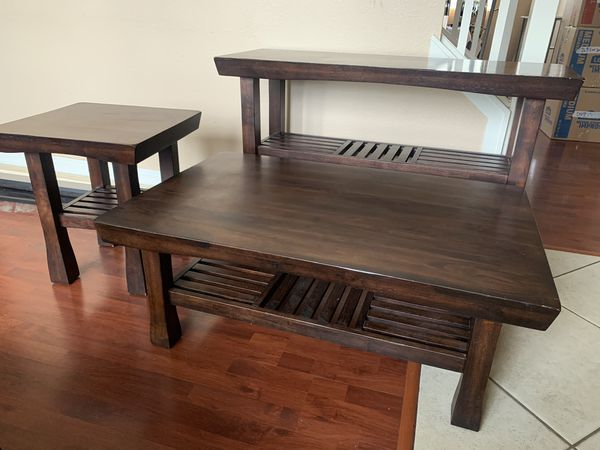 Beautiful Coffee Table Set, Solid Wood, Imported Cost Plus World Market