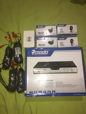 Zmodo 4-Channel/Cameras DVR Surveillance System. 500 GB Installed HD. NEW -FOUR! for Sale in Brooklyn, NY