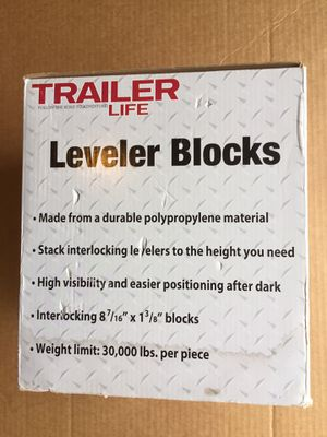 Trailer life set of 10 interlocking leveler blocks for Sale in Kittanning, PA
