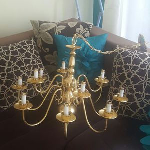 Gold chandelier good condition for Sale in Nashville, TN