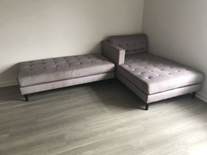 Sectional with ottoman couch for Sale in Boca Raton, FL