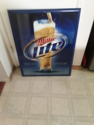 Miller lite Reflective Plaque for Sale in Tacoma, WA