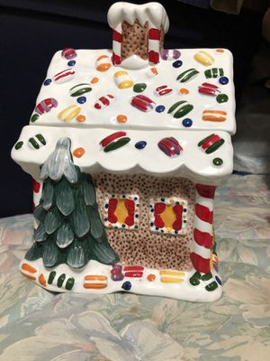 Christmas cookie jar candy land house for Sale in San Antonio, TX