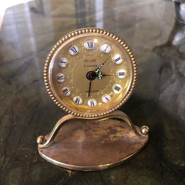 Antique French Relide 4 Jewel Clock