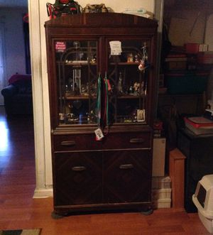 Antique Wooden China Cabinet for Sale in Philadelphia, PA