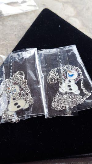 New Olaf frozen childrens necklaces for Sale in Allen Park, MI