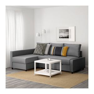 Small scale sectional plus full size bed and storage for Sale in Denver, CO