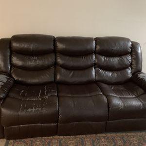 3 Seater Recliner Sofa For Free Pickup for Sale in Smyrna, GA