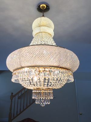 Real crystal chandelier for Sale in San Diego, CA
