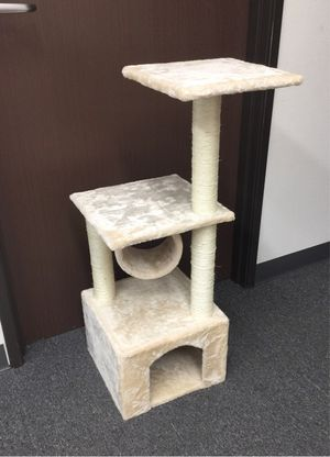 New in box 36 inches tall cat tree tower house scratcher scratching play post pet furniture cream light beige color $20 each casa del arbol del gato for Sale in Los Angeles, CA
